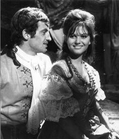 "Claudia Cardinale and Jean-Paul Belmondo in ""Cartouche"" (1962)"