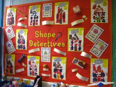 Shape Detectives 2D shapes classroom display photo - Photo gallery - SparkleBox Maths Display, Classroom Displays, Classroom Themes, Preschool Displays, Class Displays, 2d Shapes Kindergarten, Kindergarten Crafts, 2d Shapes Activities, Math Activities
