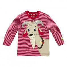 Kindertracht - T-Shirt gestreift ´Gemse´ stripe rot/weiss