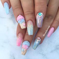 ✨Summer Vibez By Jess! #nailart #nails #naildesigns #nailsofinstagram #nailaddict #nailartlove #lovenails #loveeffectnails #goldcoastnails #goldcoastbeauty #goldcoastsalon #goldcoastnailtech #acrylicnails #icecream #icecreamnails #3dnailart #swarovskinails #pastel #pastelnails #pastellove #glitternails #youngnails #youngnailsinc #youngnailsglitter #nail_me_good_ #thenaillife #nailsbenails #foodnails #adorablenails #pinknails