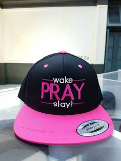 Check out this item in my Etsy shop https://www.etsy.com/listing/449341498/wake-pray-slay