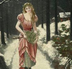 Winter Forest Fairy with Mistletoe by Henri Gervex