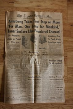 APOLLO 11 Neil Armstrong MOONDAY July 21 by VarietyVintagebyALD, SOLD