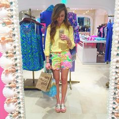 Lilly Pulitzer shorts in All Nighter. Preppy Wardrobe, Preppy Outfits, Spring Outfits, Cute Outfits, Fashion Outfits, Preppy Fashion, Spring Fashion, Preppy Southern, Southern Prep