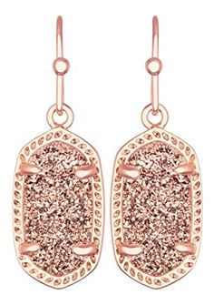 Kendra Scott Signature Dainty Lee Earrings in Rose Gold Drusy & Rose Gold Plated Kendra Scott http://www.amazon.com/dp/B013SHPAP6/ref=cm_sw_r_pi_dp_ks1cwb1DT6908
