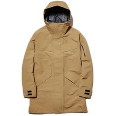 A hooded, weatherproof coat that boasts a slew of thoughtful features and design details that draw on Goldwin's long history of developing ski wear. Ski Wear, Outdoor Fashion, Gore Tex, Streetwear Fashion, Winter Coat, Outdoor Gear, Hoods, Canada Goose Jackets, Winter Jackets