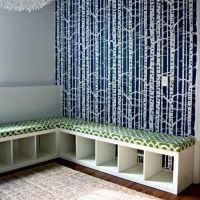 Amazing Seating Project {Benches}    I would put those handy little fabric drawers beneath for storage as well.  This would be perfect for the room that has become Ravi's play area/LAN zone/dining room/belly dance studio