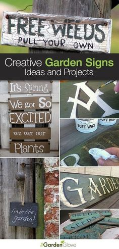 Creative Garden Sign Ideas and Projects • Lots of great Ideas and Tutorials! by maricela