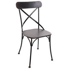 METAL CHAIR IN ANTIQUE BLACK COLOR 45X46X88