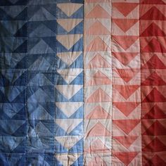 dyed triangle quilt