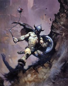 Frank Frazetta (Warrior With Ball And Chain HD).jpg (1082×1354)