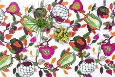 Fruity coated fabric by Saara Kurkela