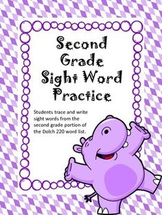 This is the complete second grade list of sight words from the Dolch 220 sight word list. Students must trace and write each sight word for practice. This is a great review for any second or third grade classroom. Students learn not only how to read the word but also how to spell the word.Customer Hints:1.