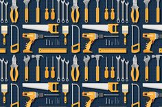 More than a million free vectors, PSD, photos and free icons. Exclusive freebies and all graphic resources that you need for your projects Hammer Tool, Garage Interior, Tool Store, Isometric Design, Construction Tools, Happy Labor Day, Home Tools, Circle Shape, Flat Design