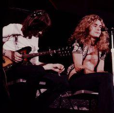 "allaboutjonesy: """"John Paul Jones and Robert Plant performing at the Budokan Hall in Tokyo, Japan. September 1971. "" """