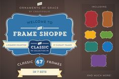 67 Classic Frames-Vector+AI Symbols by Ornaments of Grace on Creative Market