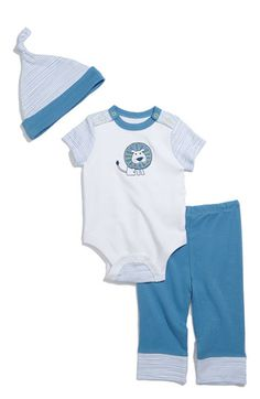 Offspring Bodysuit, Pants & Hat Set (Infant) | Nordstrom