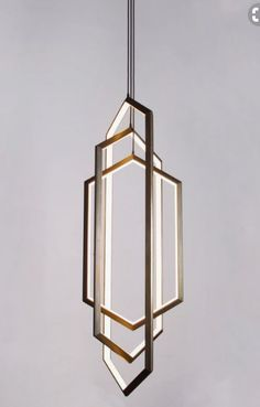 Orbis by Studio Endo - x x Omni directional light with dimmable LED illumination - three elongated hexagon rings, each ring is suspended vertically from a single point. Lampe Art Deco, Deco Luminaire, Luminaire Design, Lamp Design, Interior Lighting, Home Lighting, Modern Lighting, Lighting Design, Modern Lamps