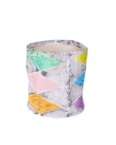 Charcoal Harlequin Bucket by Lumiere Art & Co.