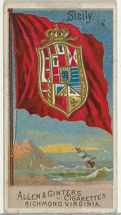 Sicily, from Flags of All Nations, Series 2 (N10) for Allen & Ginter Cigarettes Brands