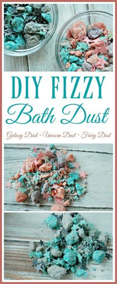Are you ready to make your children squeal with delight? Are you ready to thrill your unicorn obsessed friends? Check out this DIY fizzy bath dust aka.... Fizzy Unicorn Dust or Fizzy Galaxy Dust or Fizzy Fairy Dust (you can really name it whatever you want or just go with plain jane Fizzy Bath Dust but personally Unicorn, Galaxy, and Fairy dust are the favorites).
