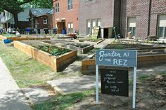 Community garden..