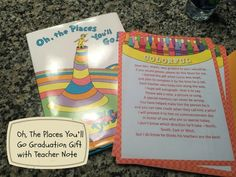 Oh, The Places You'll Go Graduation Gift with Teacher Note