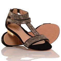Sandália Rasteira London Costes | Mundial Calçados - MundialCalcados