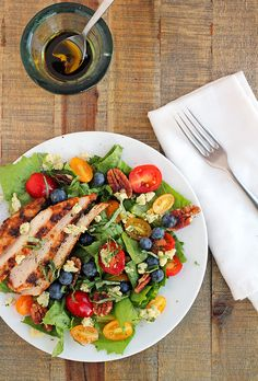 Chicken Greek Salad For A Healthy Lunch! Pair With A Karma Wellness Water For Even More Freshness!