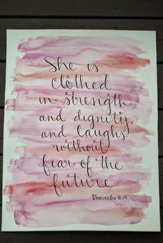 Bible Verse Watercolor Artwork | laura frances design blog