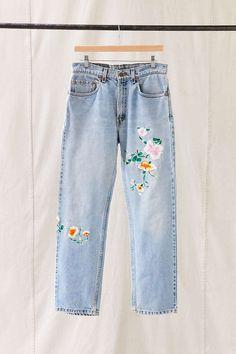 Vintage Levi's Floral Embroidered Jean