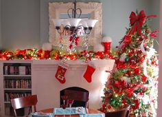 A Becca Blog: Red and Green Christmas Tree