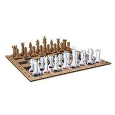 Made from recycled cardboard, this set uses your own found pennies to add weight to the chess pieces. Cool Gifts For Teens, Unique Gifts For Him, 90th Birthday, Birthday Gifts, Top Gifts, Best Gifts, Origami And Kirigami, Recycling, Christmas Gifts