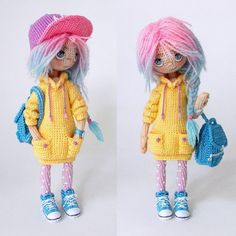 Amigurumi doll with back pack. (Inspiration).