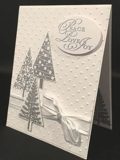 Merry Christmas, Stampin Up Christmas, Christmas Cards To Make, Xmas Cards, Holiday Cards, Christmas Diy, Christmas Projects, Christmas Trees, Christmas Favors