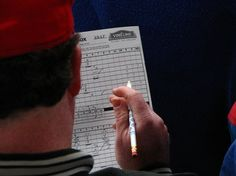 Scoring a baseball game using a scoresheet goes back to the early days of the game. Scorecards make a great memento of all the baseball games you've attended.