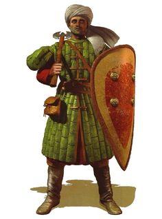Footman soldier; Byzantine infantry;10th AD