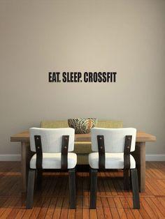 Crossfit Vinyl Decal. Bumper Sticker. EAT.SLEEP.CROSSFIT.Wall Art. Custom Listing