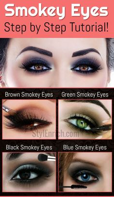 Smokey Eyes Makeup : Step by Step Tutorial For Beginners!