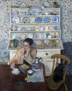 """Breakfast"": Alberto Morrocco (1917 -1998)  Scottish painter."