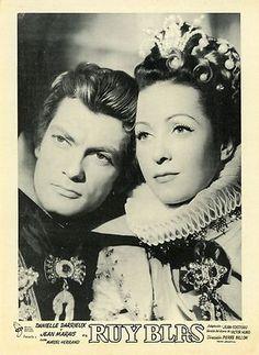 DANIELLE DARRIEUX JEAN MARAIS JEAN COCTEAU RUY BLAS 1948