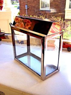 Vintage Tiny Stainless Steel Aquarium With Metaframe Light Nice