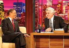 """Obama Is Everywhere 2009: Barack Obama's visit to """"The Tonight Show With Jay Leno"""" is the first by a president on a late-night talk show. He later appears on """"The View,"""" """"Mythbusters"""" and """"Running Wild With Bear Grylls"""" — and even sings """"Amazing Grace"""" on Coldplay album """"A Head Full of Dreams."""""""