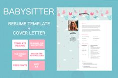 Stunning babysitter resume template design is waiting for you here! Resume Design Template, Resume Templates, Card Templates, Business Presentation Templates, Presentation Cards, Minimal Business Card, Elegant Business Cards, Babysitter Resume, High Quality Business Cards