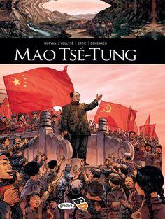 Mao Tsé-Tung de Jean-David Morvan, Frederique Voulyze e Jean-Luc Domenach, ilustração por Rafäel Ortiz. Lançamento banda desenhada por Gradiva Publicações, S.A. em português, outubro 2020. #bandadesenhada #maotsetung #bdleakspt