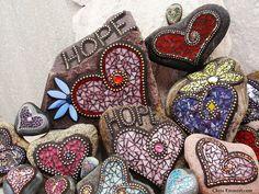 Mosaic Garden Art, Mosaic Art, Mosaic Tiles, Mosaic Rocks, Stone Mosaic, Crafts To Make, Arts And Crafts, Mosaic Crafts, Mosaic Projects