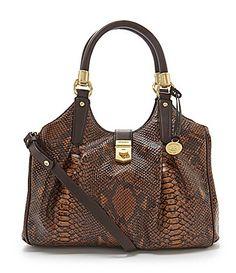 Brahmin Seville Collection Elisa SnakeEmbossed Hobo Bag #Dillards