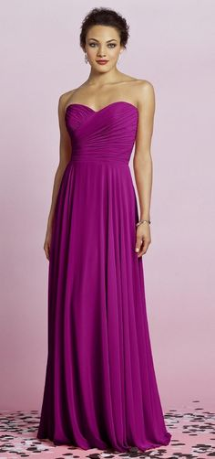 Would be good for a bridesmaid dress! I Love the magenta color ...