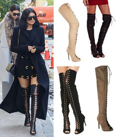 Kylie Jenner's Lace-Up, Over-The-Knee Boots: SHOP 5 Ways To Rock The SexyStyle