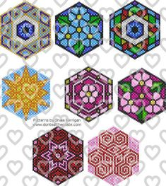 """Brick Stitch Patterns I'm thinking """"stained glass"""" banners. OOhh the mind is racing! Jewelry: Mandala Brick Stitch PatternsI'm thinking """"stained glass"""" banners. OOhh the mind is racing! Bead Loom Patterns, Perler Patterns, Peyote Patterns, Weaving Patterns, Art Patterns, Jewelry Patterns, Bracelet Patterns, Color Patterns, Jewelry Ideas"""